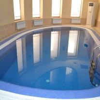 частный бассейна овальной форма, строительство бассейнов в нурсултане, астане.
